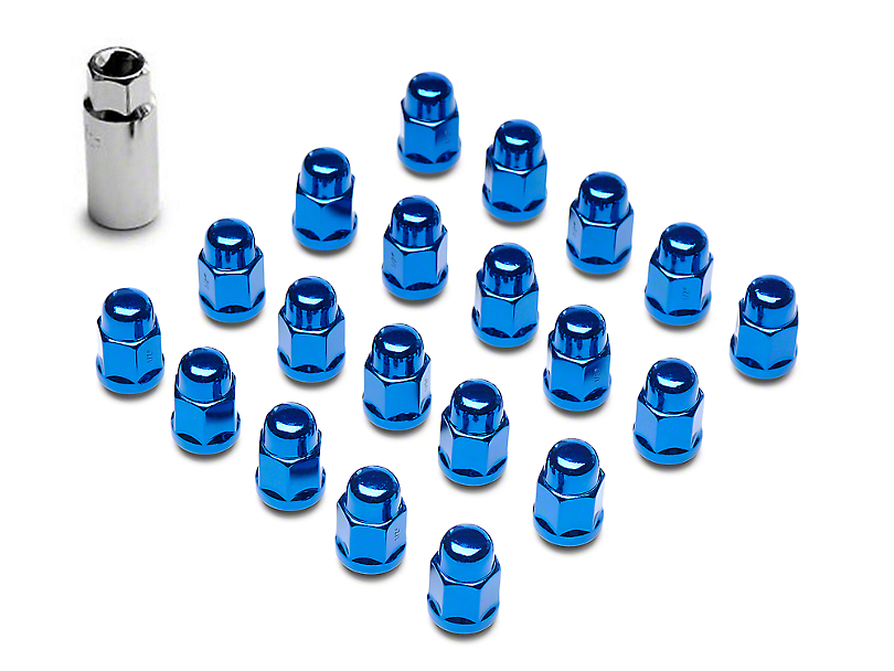 Blue Acorn Lug Nuts - 3/4 in. (87-18 Jeep Wrangler YJ, TJ & JK)