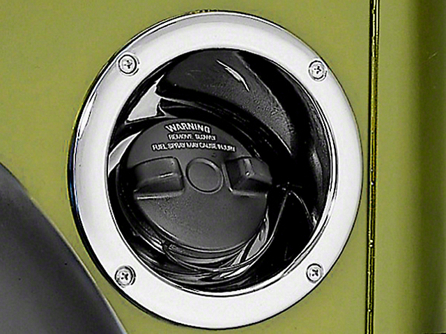Rugged Ridge Gas Tank Filler Cover - Chrome (97-06 Wrangler TJ)