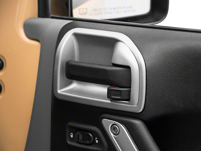 Rugged Ridge Charcoal Door Latch Trim (11-18 Jeep Wrangler JK)