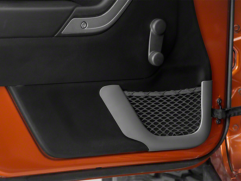 Rugged Ridge Front Charcoal Door Net Trim (11-18 Jeep Wrangler JK)