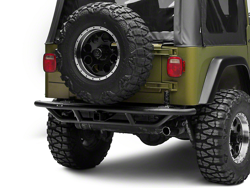 Rugged Ridge RRC Rear Bumper w/ Tire Carrier Provision - Textured Black (87-06 Jeep Wrangler YJ & TJ)