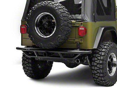 Rugged Ridge RRC Rear Bumper w/ Tire Carrier Provision - Textured Black (87-06 Wrangler YJ & TJ)