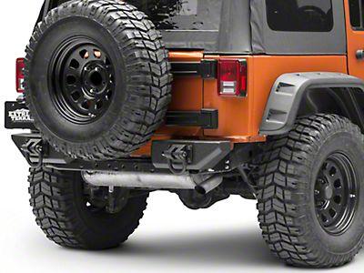 Rear Bumper XHD Aluminum Pod Center Step for Jeep JK 07-18 11547.10 Rugged Ridge