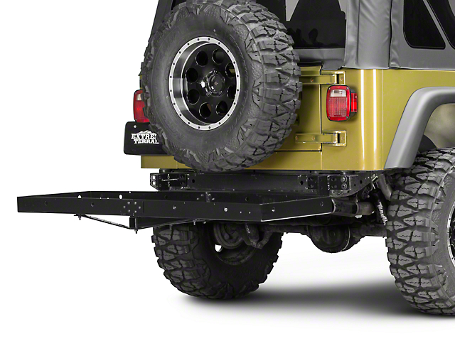 Rugged Ridge 2 in. Receiver Hitch Kit w/ Cargo Rack (87-06 Jeep Wrangler YJ & TJ)