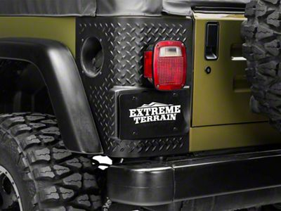 Add Rugged Ridge Rear Corner Guards (97-06 Wrangler TJ)