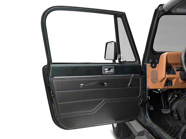 Door Interior Trim Panel; Driver Side; Black (87-95 Jeep Wrangler YJ)