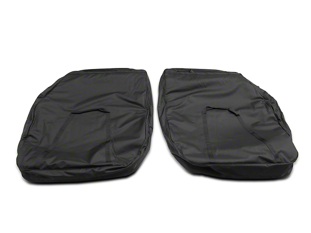 Rugged Ridge Front Door Storage Bag Kit (07-18 Jeep Wrangler JK; 2018 Jeep Wrangler JL)