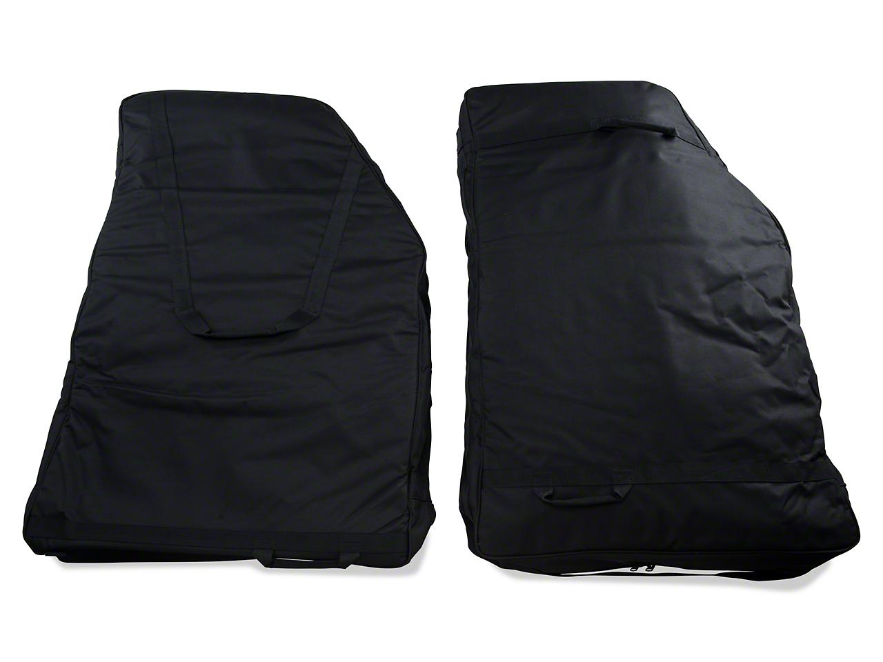 Rugged Ridge Rear Door Storage Bag Kit (07-18 Wrangler JK; 2018 Wrangler JL)