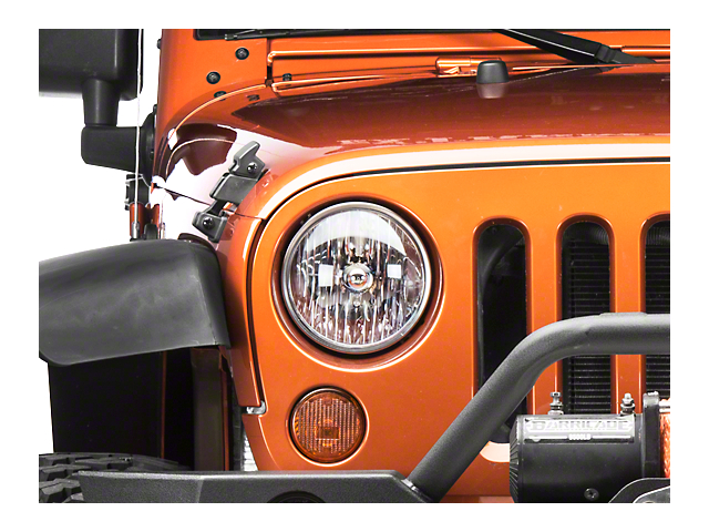 Headlight; Driver Side (07-18 Jeep Wrangler JK)