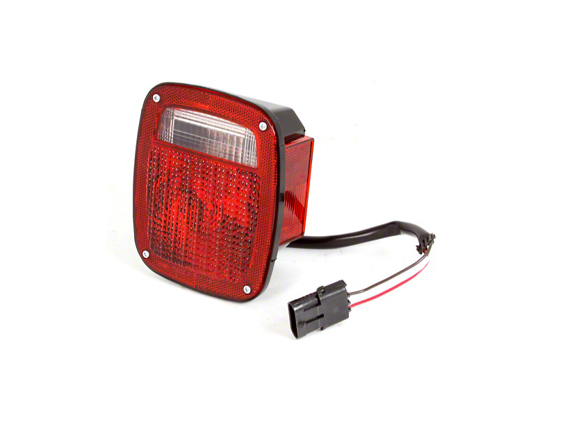 Right Side Tail Light W/ Black Housing (87-90 Jeep Wrangler YJ)