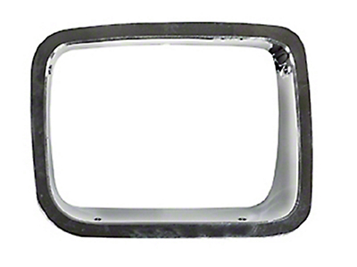 Omix-ADA Right Side Headlight Bezel - Chrome (87-95 Jeep Wrangler YJ)