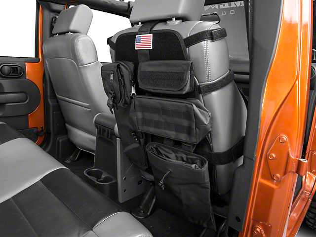 Rugged Ridge Front Cargo Seat Cover; Black (66-21 Jeep CJ5, CJ7, Wrangler YJ, TJ, JK & JL)