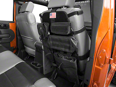 Rugged Ridge Front Cargo Seat Cover - Black (87-17 Wrangler YJ, TJ & JK)