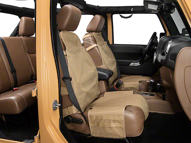 Rugged Ridge Front Cargo Seat Cover; Tan (66-21 Jeep CJ5, CJ7, Wrangler YJ, TJ, JK & JL)