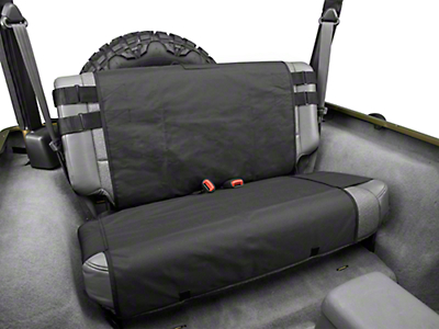 Rugged Ridge Rear Cargo Seat Cover - Black (87-06 Jeep Wrangler YJ & TJ)
