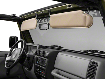 Rugged Ridge Sunvisor Set - Camel (97-02 Wrangler TJ)