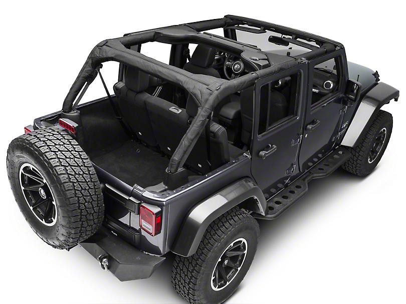 Rugged Ridge Roll Bar Cover - Black Polyester (07-18 Jeep Wrangler JK 4 Door)