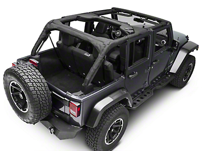 Rugged Ridge Roll Bar Cover - Black Polyester (07-18 Jeep Wrangler JK 4 Door)