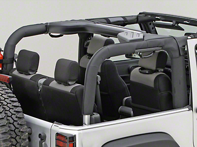 Rugged Ridge Roll Bar Cover - Black Polyester (07-18 Wrangler JK 2 Door)