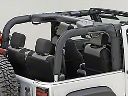 Rugged Ridge Roll Bar Cover - Black Polyester (07-18 Jeep Wrangler JK 2 Door)