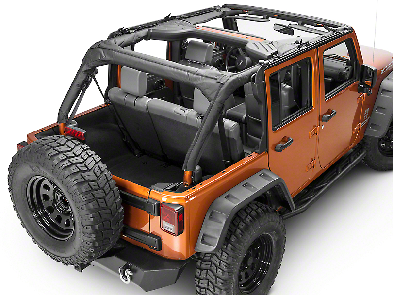 Rugged Ridge Roll Bar Cover - Black Vinyl (07-18 Jeep Wrangler JK 4 Door)