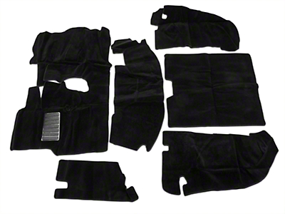 Rugged Ridge Deluxe Carpet Kit w/ Adhesive - Black (97-06 Jeep Wrangler TJ)