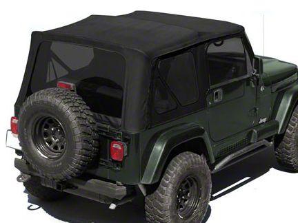 Rugged Ridge XHD Replacement Soft Top w/ Tinted Windows & Half Door Skins - Black Diamond (88-95 Jeep Wrangler YJ w/ Factory Soft Top)