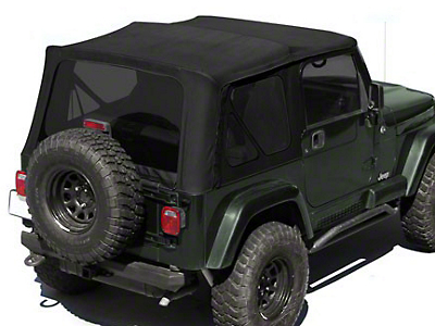 Rugged Ridge XHD Replacement Soft Top w/ Tinted Windows & Half Door Skins - Black Diamond (88-95 Jeep Wrangler YJ w/ Factory Soft Top)