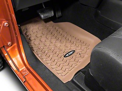 Rugged Ridge All Terrain Front Floor Liners - Tan (07-13 Wrangler JK)