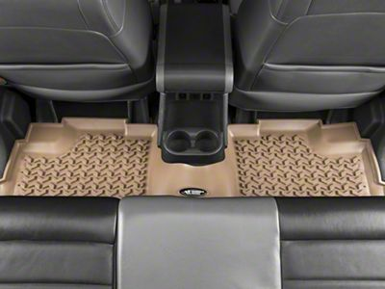 Rugged Ridge All-Terrain Rear Floor Mat - Tan (07-18 Jeep Wrangler JK 4 Door)