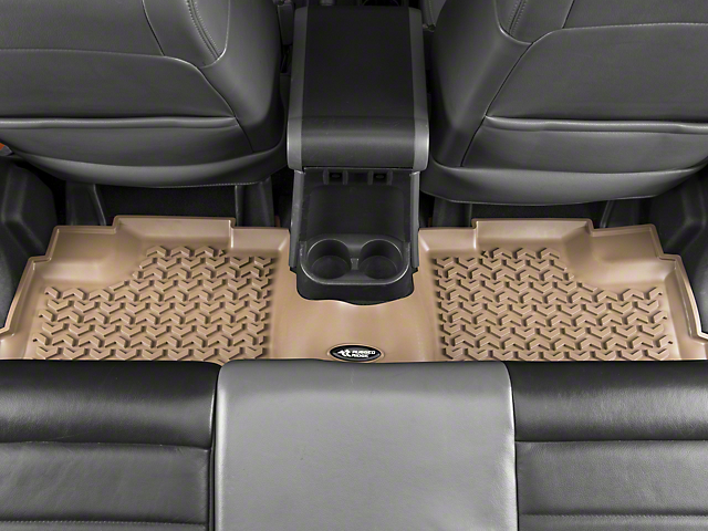 Rugged Ridge All Terrain Rear Floor Liner - Tan (07-18 Jeep Wrangler JK 4 Door)