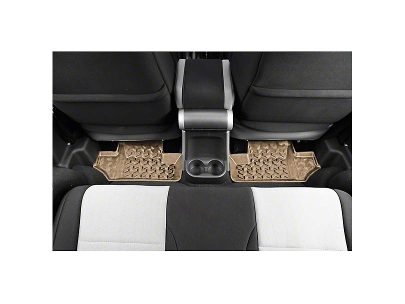 Rugged Ridge Rear Floor Mats - Tan (07-18 Jeep Wrangler JK)