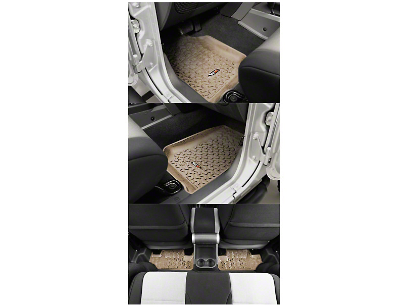 Rugged Ridge All-Terrain Front & Rear Floor Mats - Tan (07-13 Jeep Wrangler JK 2 Door)
