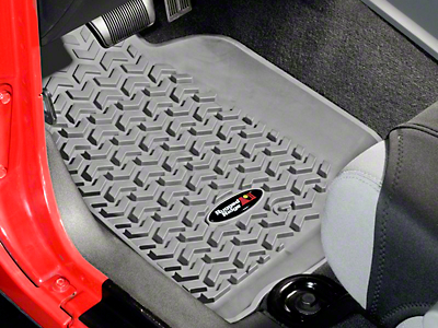 Rugged Ridge All Terrain Front Floor Liners - Gray (07-13 Wrangler JK)