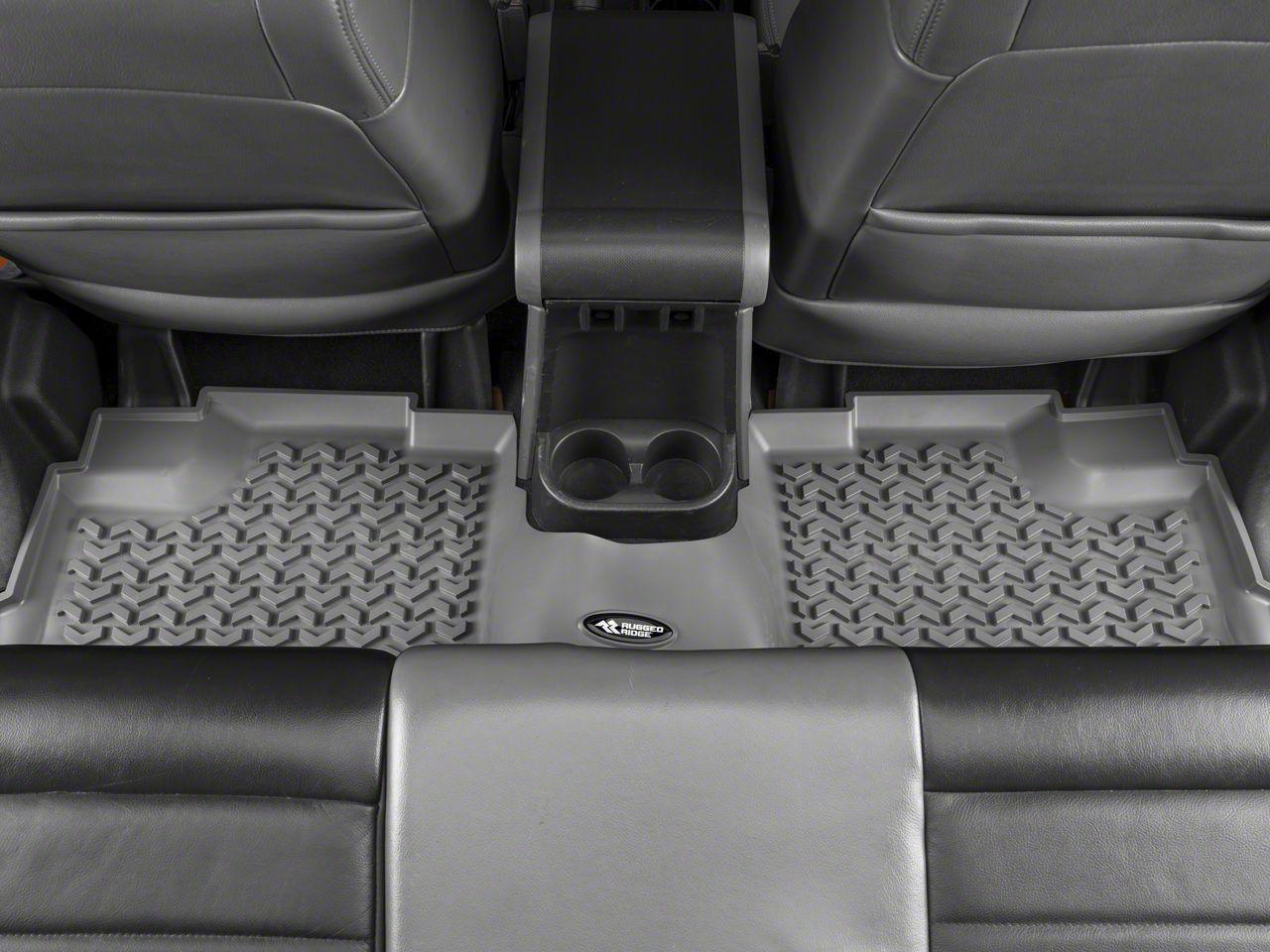 Rugged Ridge All-Terrain Rear Floor Mat - Gray (07-18 Jeep Wrangler JK 4 Door)