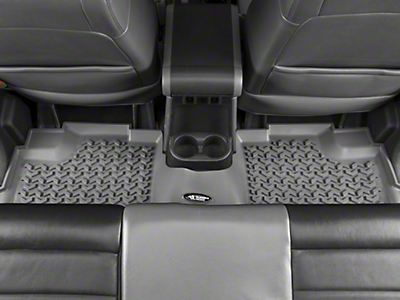 Rugged Ridge All Terrain Rear Floor Liner - Gray (07-18 Jeep Wrangler JK 4 Door)