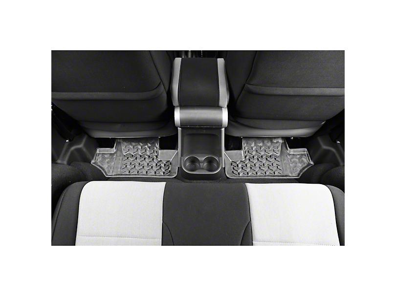 Rugged Ridge Rear Floor Mats - Gray (07-18 Jeep Wrangler JK 2 Door)