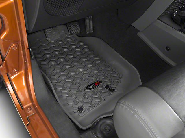 Rugged Ridge All Terrain Front & Rear Floor Liners - Gray (07-13 Jeep Wrangler JK 4 Door)