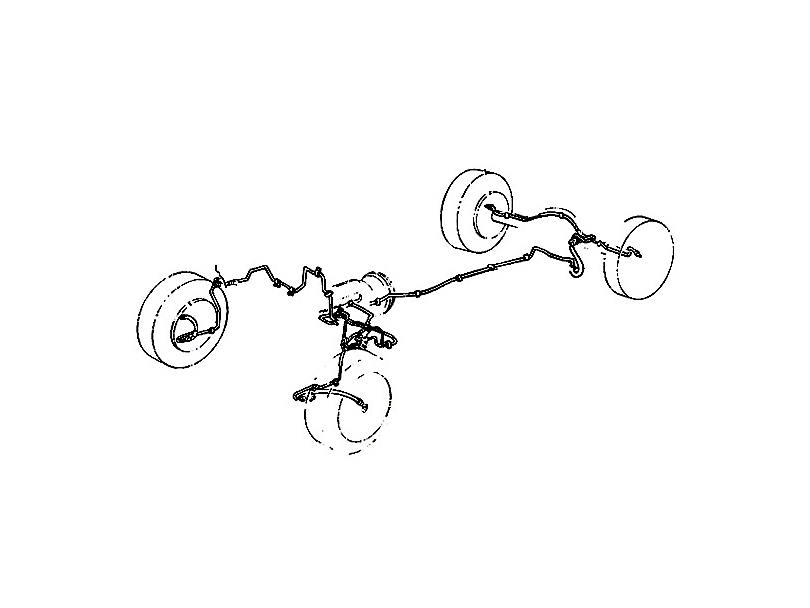 Omix-ADA Brake Line Set (97-06 Wrangler TJ)