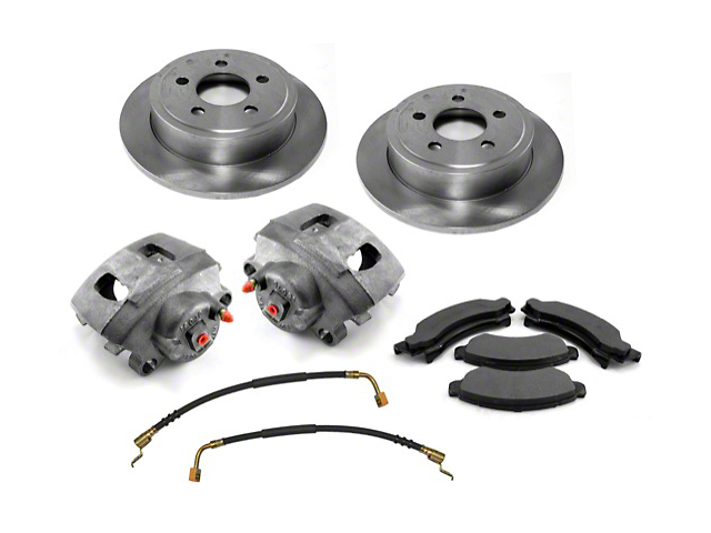 Premium Disc Brake Service Kit; Front (00-06 Jeep Wrangler TJ)