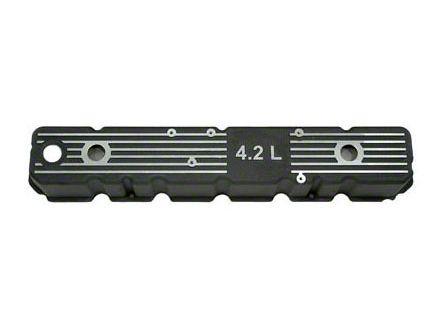 Omix-ADA Aluminum Valve Cover w/ 4.2L Logo - Black (87-90 Jeep Wrangler YJ)