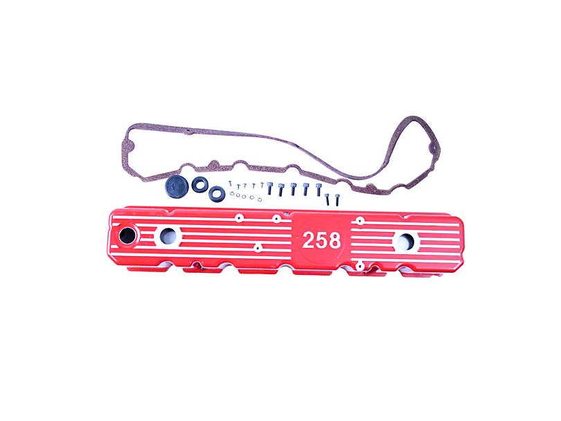 Aluminum Valve Cover; Red (1987 4.2L Jeep Wrangler YJ)