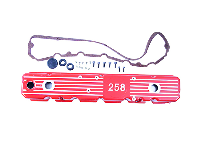 Aluminum Valve Cover; Red (1987 4.2L Jeep Wrangler YJ)