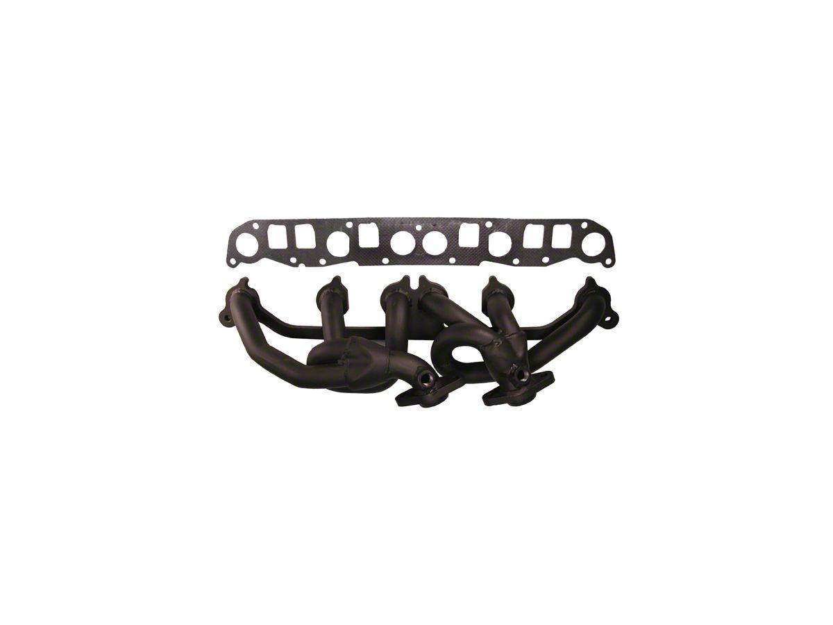 Rugged Ridge Black Steel Exhaust Header 00 06 4 0l Jeep Wrangler Tj