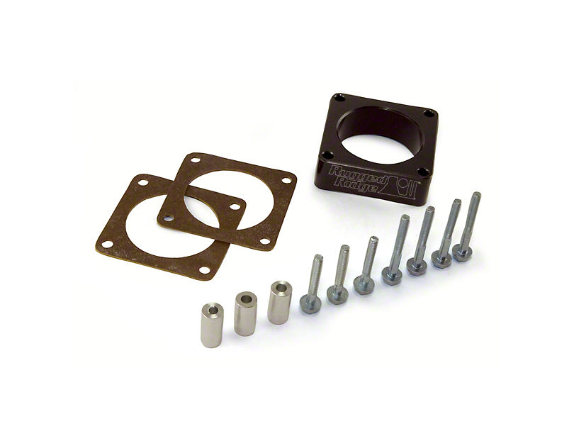 Rugged Ridge Throttle Body Spacer (91-06 2.5L or 4.0L Jeep Wrangler YJ & TJ)
