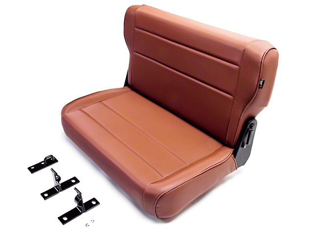Rugged Ridge Rear Fold & Tumble Seat - Spice (87-95 Jeep Wrangler YJ)