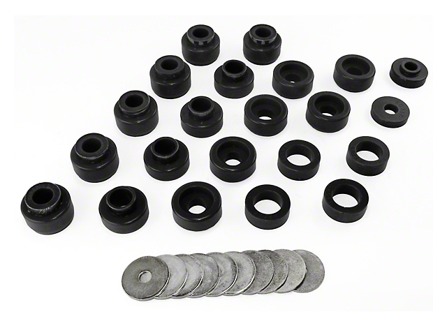 Rugged Ridge 22-Piece Body Mount Kit - Black (87-95 Jeep Wrangler YJ)