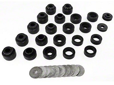 Rugged Ridge 22-Piece Body Mount Kit - Black (87-95 Wrangler YJ)
