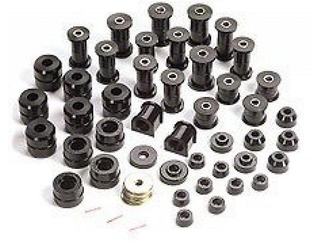 Rugged Ridge Polyurethane Suspension Bushing Kit; Black (87-95 Jeep Wrangler YJ)