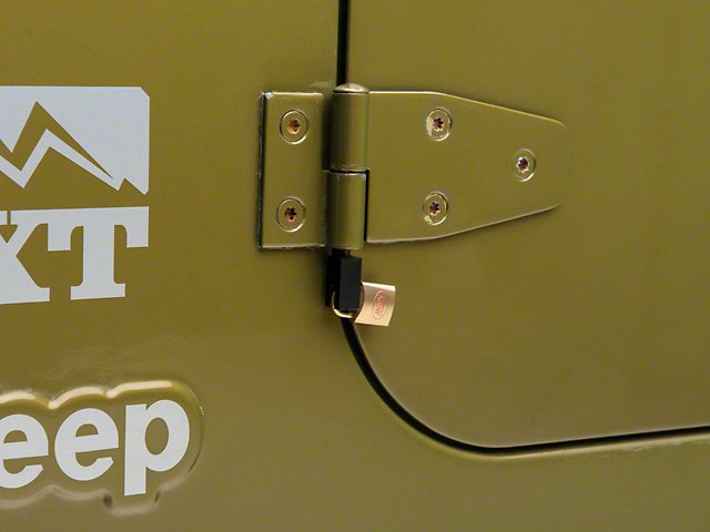 Rugged Ridge Door Hinge Lock Kit (97-06 Jeep Wrangler TJ)